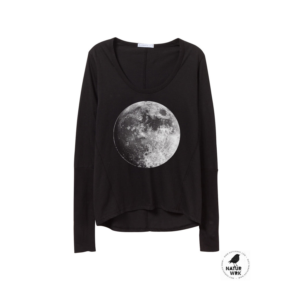 womens long sleeve moon shirt