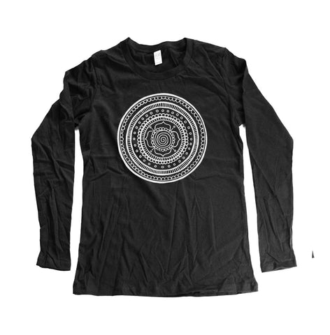 Unisex Long Sleeve Mandala Shirt