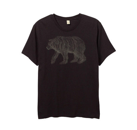 Mens Black California Bear Tshirt