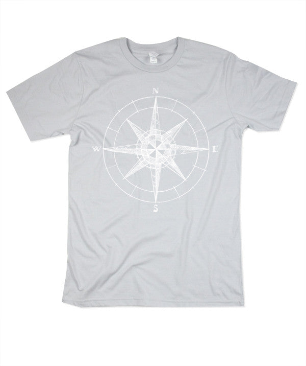 Men's Silver Compass Tshirt
