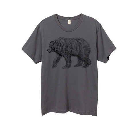 Asphalt Grey California Bear Tshirt