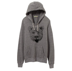 Mens Eco-Heather Bear Pullover Hoodie