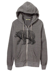Mens Eco-Heather Bear Hoodie