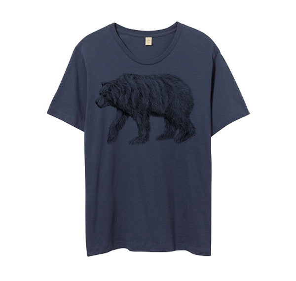 Mens Navy Blue California Bear Tshirt