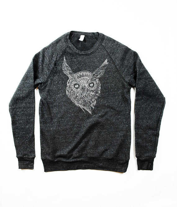 Men's Owl Face Sweatshirt