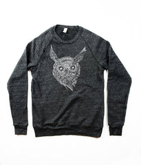 Mens Owl Face Sweatshirt