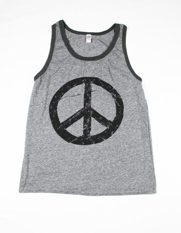 Guys Peace Sign Tank Top