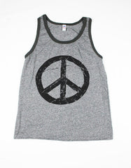 Mens peace tank top