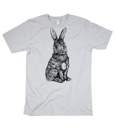 Mens Silver Rabbit Tshirt