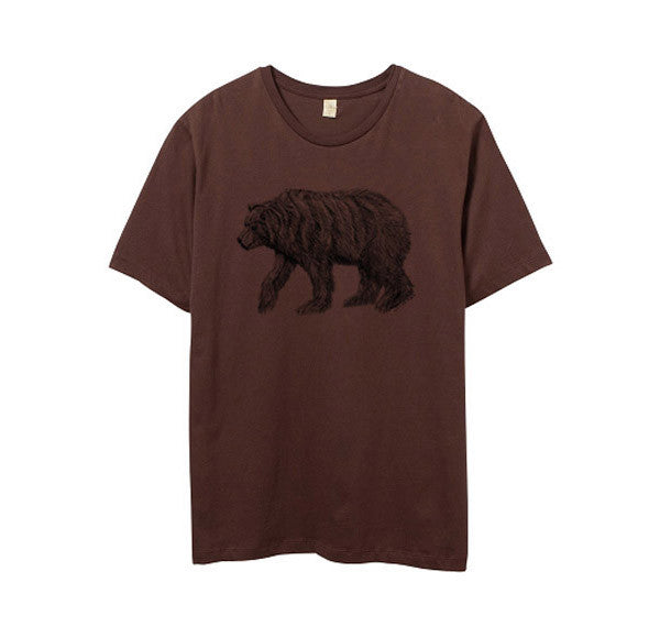 Men's Brown California Bear Tshirt