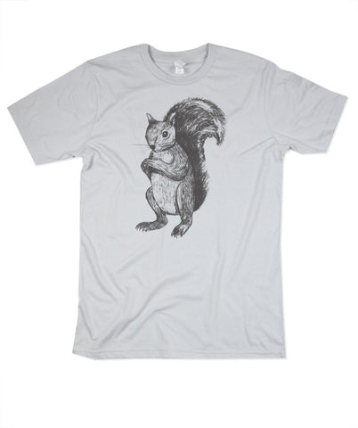 Mens Silver Squirrel Tshirt