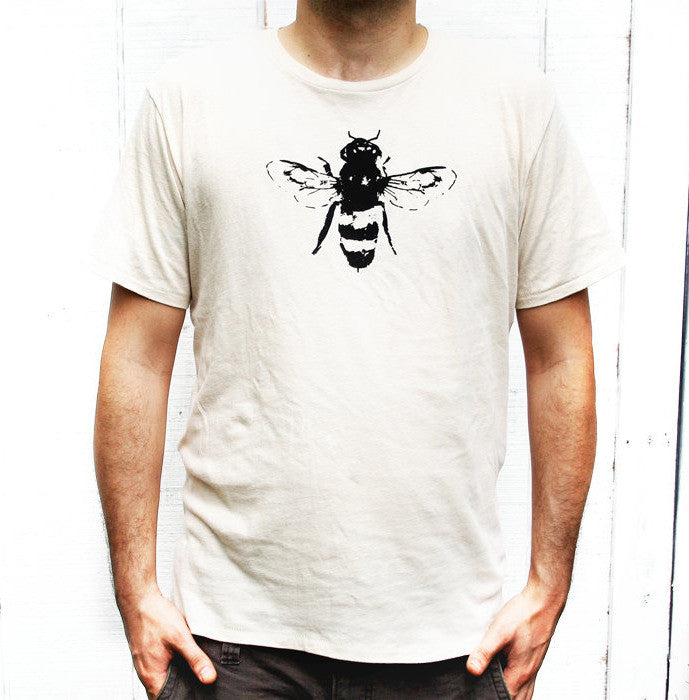 Mens White Bee Tee