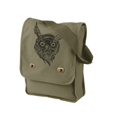 Wise Owl Khaki Green Messenger Bag