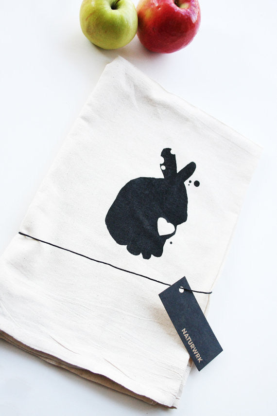 rabbit tea towels