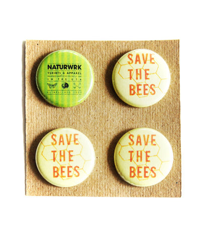 Save The Bees Button Pack