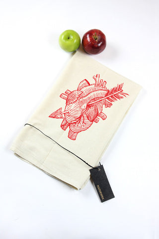 Heart & Arrow Tea Towel