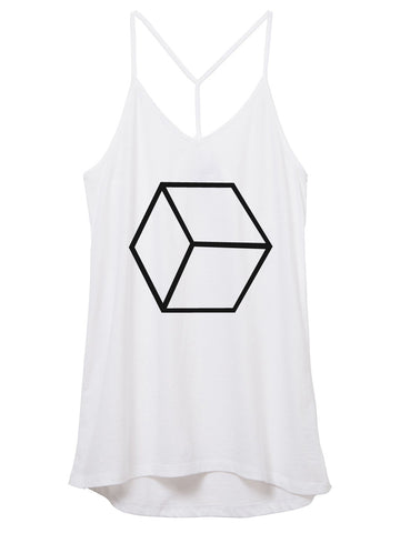 Womens Cotton Honeycomb Tank Top