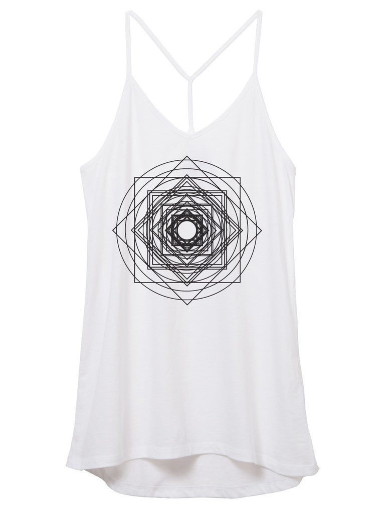 Womens Geometric Mandala Tank Top