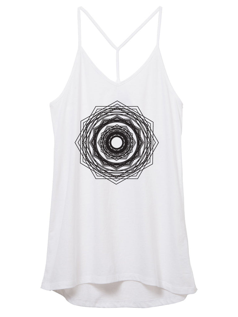 Womens Honeycomb Octagon Mandala Tank Top