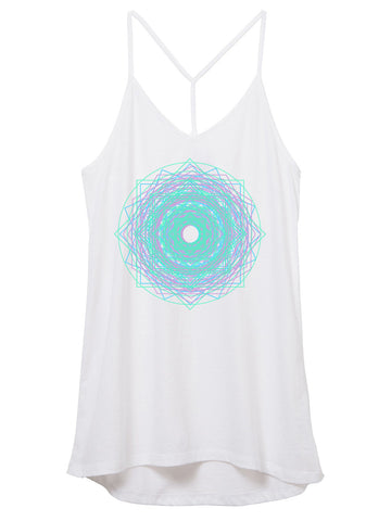 Womens Unicorn Mandala Tank Top