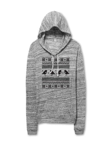 Women's Lightweight Bird Pattern Hoodie