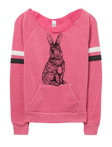 Womens Pink Rabbit Sweater