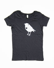 Womens Scoop Neck Bird Tshirt