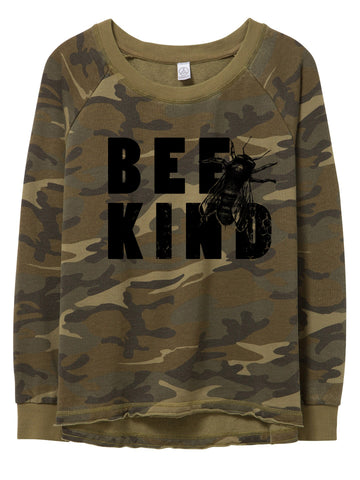 womens camo bear sweatshirt