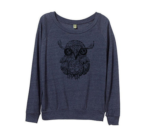 Women's Cute Owl Sweatshirt