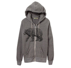 Womens Eco-Heather Bear Hoodie