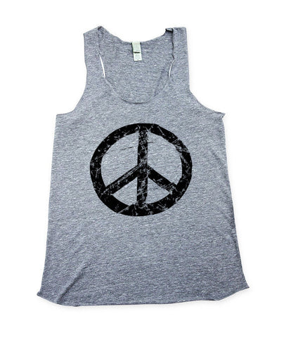 Womens Peace Sign Tank Top