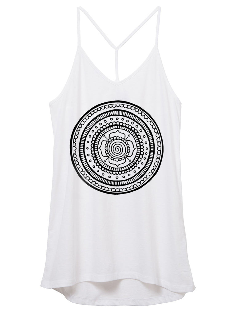 womens white mandala tank top