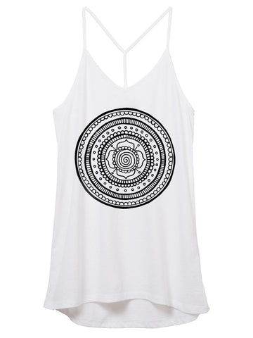 Womens Cotton Mandala Tank Top