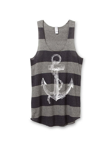 Striped Anchor Tank Top