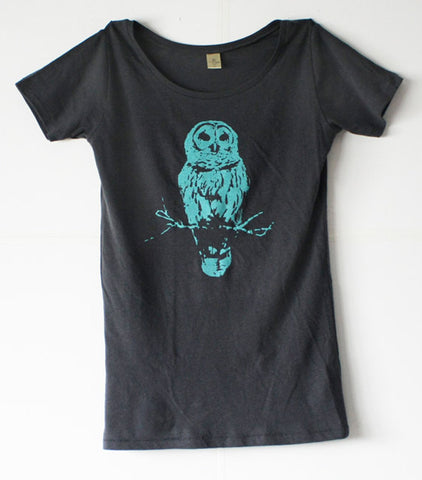 Women's Owl Shirt - Blue Owl