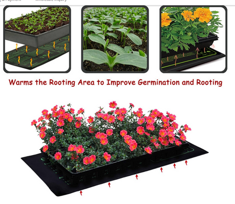 seed starting mat with flowers