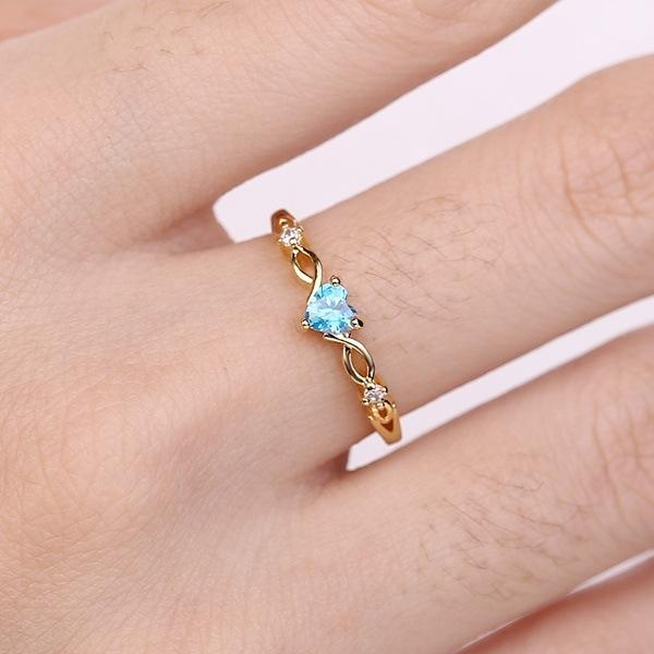 Sweet Heart Topaz Ring