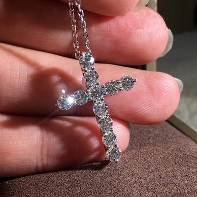 Classic Cross Sterling Silver Necklace