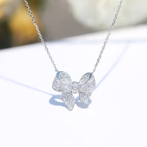 Bowknot Sterling Silver Necklace