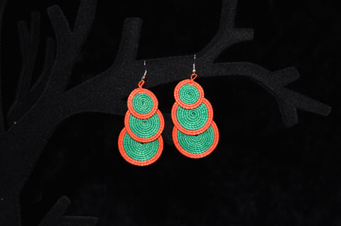 ESHATU 3 Tier Earrings