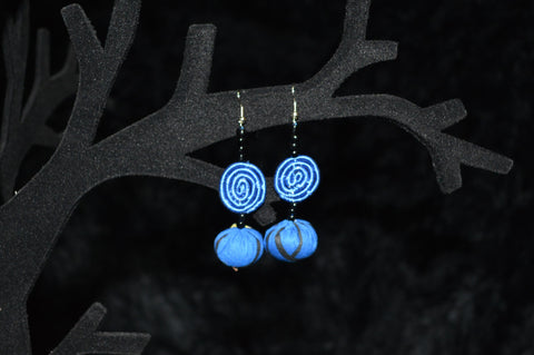GUTERANYA Disc & Fabric Bead Earrings