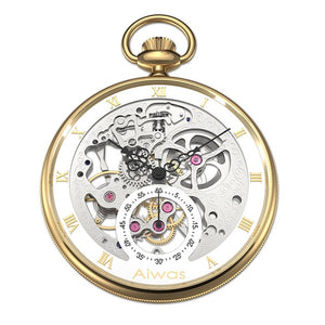 Pocket Watch Necklace Hand Wind Mechanical Top Brand Luxury Hollow Vintage Rome Calibration Gentleman Ladies Men Women Watch