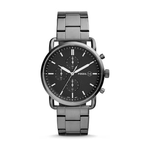 FOSSIL The Commuter Chronograph Smoke Stainless Steel Watch for Men Pocket Watch Luxury Brand Watch FS5400