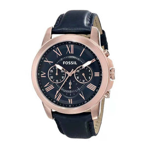 (Special Offer)Business Fashion Brand Fossil Men Quartz Watch Waterproof PU Leather Male Watch FS4835