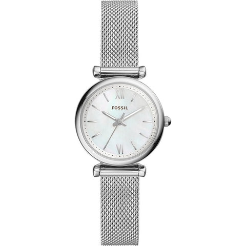 FOSSIL Women Quartz Watches Carlie Mini Three-Hand Stainless Steel Watch Silver Watches for Women Stylish ES4432P