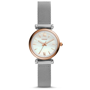 FOSSIL Women Watches Carlie Mini Three-Hand Stainless Steel Watch Small Watch for Women Stylish Casual Dress ES4614P