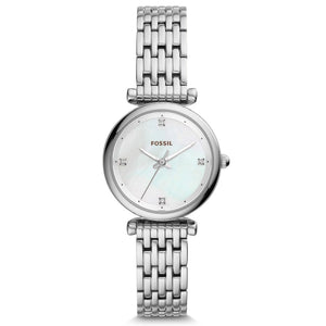 FOSSIL Ladies Watch Carlie Mini THREE-HAND Stainless Steel Watch Luxury Pocket Watches for Women Stylish ES4430P