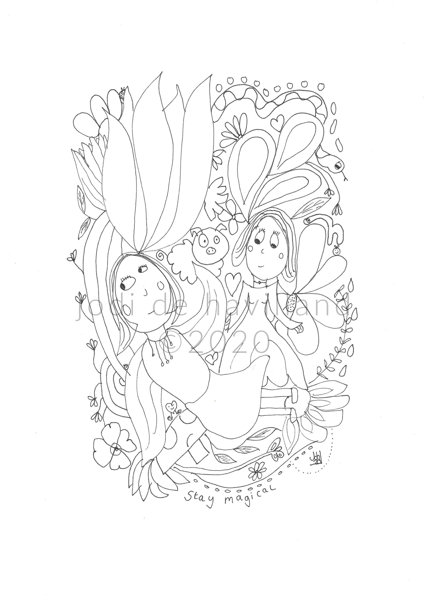 stay magical  - printable colouring page