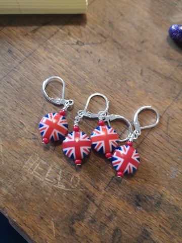 Union Flag stitch markers