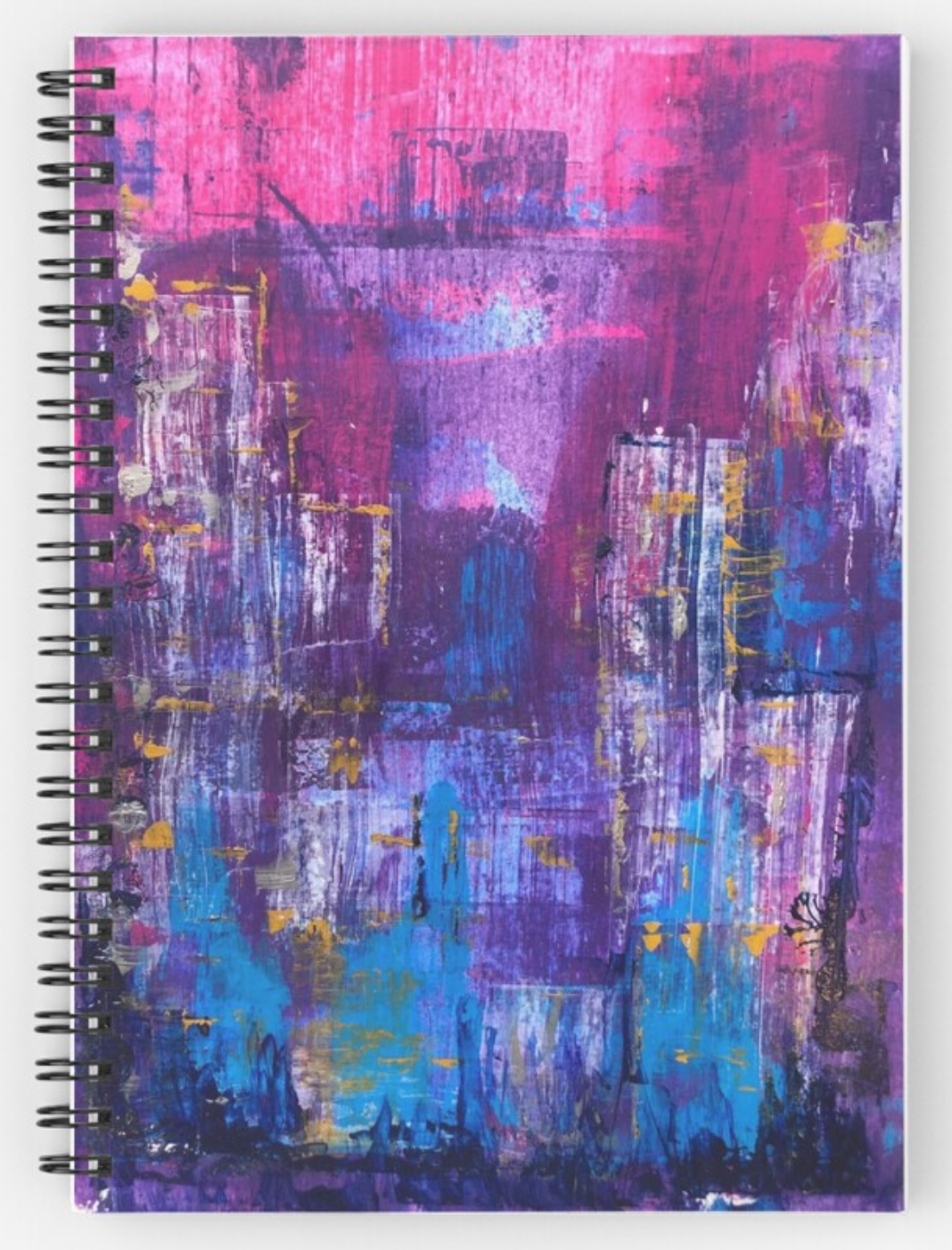 Abstraction - spiral-bound notepad